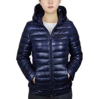 Ladies Puffer Jacket with Hood (LJKH-550)