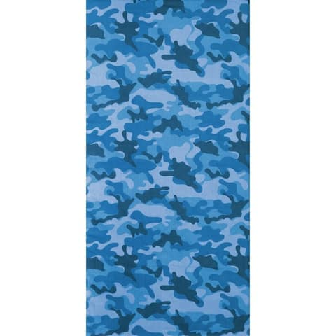 Camouflage Blue 30x60 Brazilian Velour Beach Towel