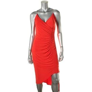 Laundry by Shelli Segal Womens Asymmetrical Gathered Evening Dress