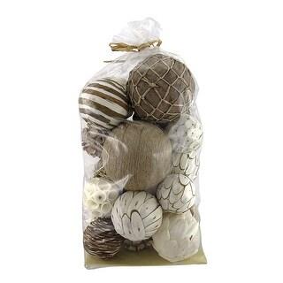 Assorted Natural Decorative Balls Vase Filler 23 Count