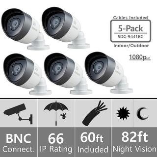 Lot of 5 Samsung SDC-9441BC Weatherproof 1080p High Definition Camera