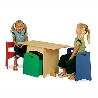 KidKraft: Natural Table with Primary Benches