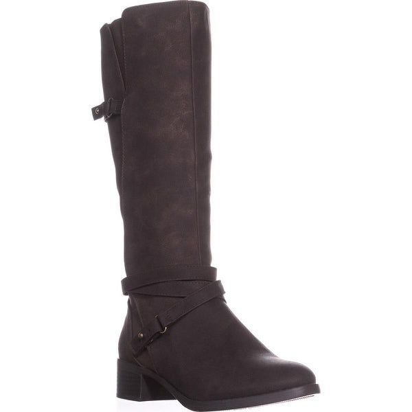 Easy Street Carlita Wide Calf Riding Boots, Brown/Shimmer - 6.5 w us