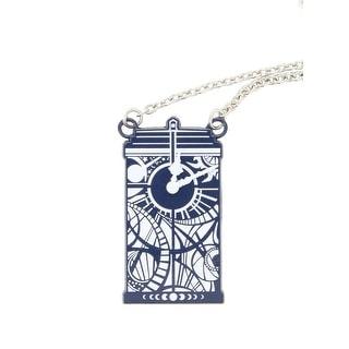Doctor Who Gallifreyan Clock Tardis Necklace