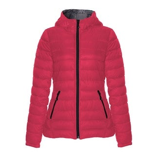 Link to HFX Halifax Raspberry Pink Packable Hooded Coat Similar Items in Women's Outerwear