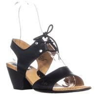 Born Concept Blaite Lace Up Block Heel Sandals, Black - 7 us / 38 eu