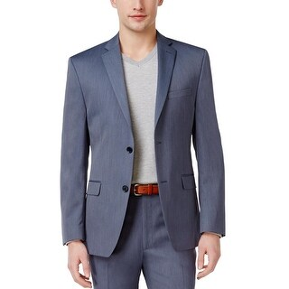 Alfani Mid Blue Solid Wool Blend Slim Fit Sportcoat 38 Long 38L Suit-Separate
