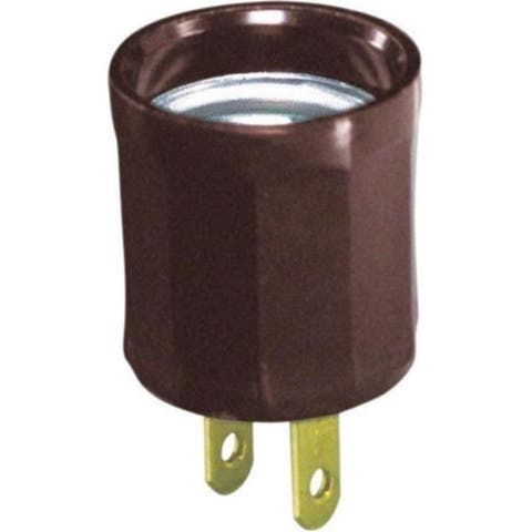 Leviton 00061-000 15A 125 V Brown Socket Plug-In Outlet Adapter