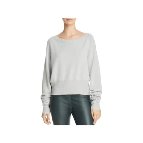 Theory Womens Pullover Sweater Boatneck Cropped