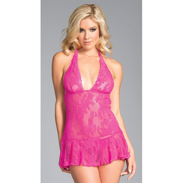 556c6e9b920 Shop Plus Size Brocade Hottie Babydoll - Hot Pink - Free Shipping On Orders  Over  45 - Overstock - 27736937