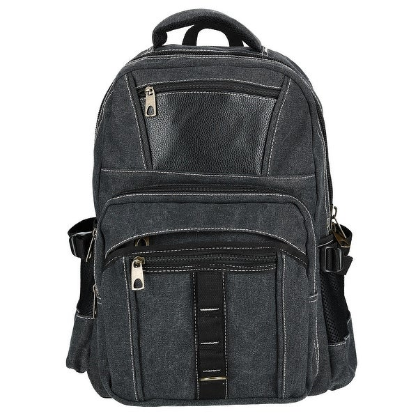 45edca357fea Shop CTM® Men's Stonewashed Canvas Backpack - one size - Free ...