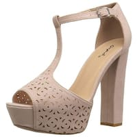 Qupid Women's Beat-92 Heeled Sandal