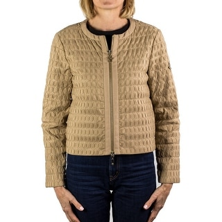 Moncler Gamme Rouge Jody Zip-up Blouse Jacket Beige Women's