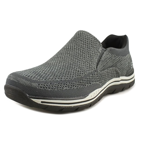 Skechers Expected Gomel Men Round Toe Synthetic Gray Loafer