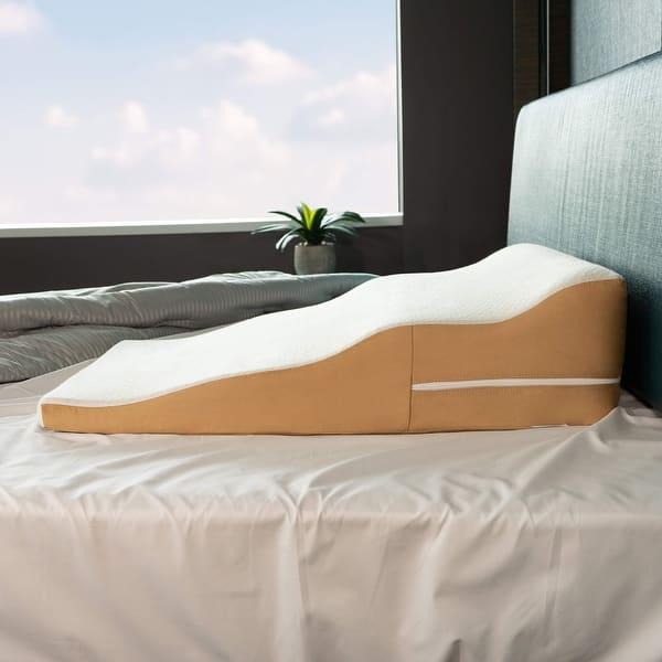 Avana Contoured Support Memory Foam Wedge Pillow Overstock 15029170