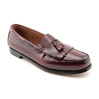 GH Bass & Co Layton Kiltie Tassel Men Round Toe Leather Burgundy Loafer