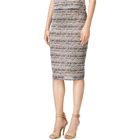 Bar Iii Womens Textured Wave Pencil Skirt