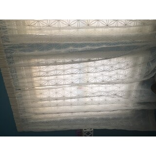 Madison Park Kida Embroidered Sheer Curtain Panel