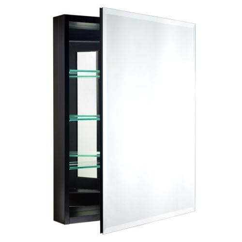 "Miseno MBC3023 Carlentini 30""H x 23""W Beveled Recessed or Surface Mount Mirrored Medicine Cabinet"