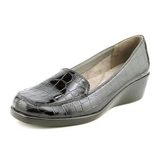 Aerosoles Final Exam Women  Open Toe Synthetic Black Wedge Heel