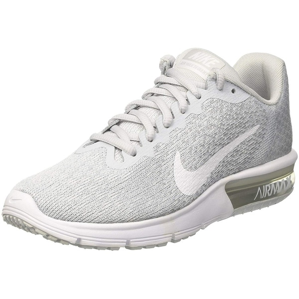 huge selection of 44784 c869c Nike Air Max Sequent 2 Pure Platinum White Wolf Grey Women Running Shoes  Size