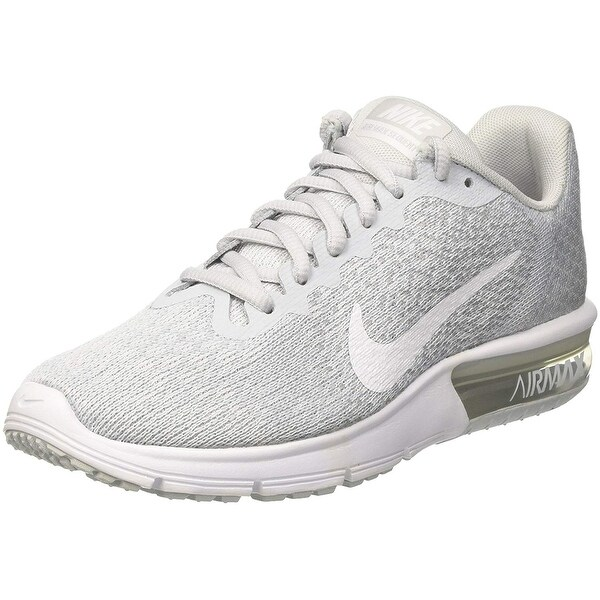 Shop Nike Air Max Sequent 2 Pure Platinum White Wolf Grey Women