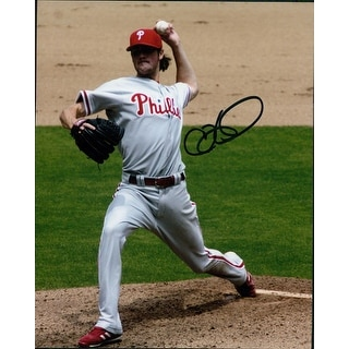 Signed Hamels Cole Philadelphia Phillies 8x10 Photo autographed