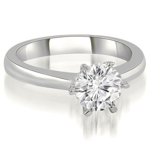 0.50 cttw. 14K White Gold 6-Prong Solitaire Round Cut Diamond Engagement Ring