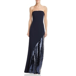 Link to Eliza J Womens Evening Dress Sequined Stapless - Navy Similar Items in Dresses