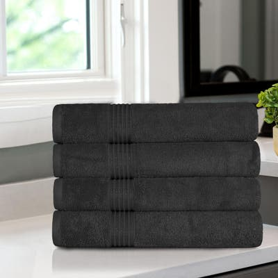 Superior Absorbent Egyptian Cotton 600 GSM Bath Towel (Set of 4) - N/A