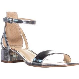 Vince Camuto Shetana Ankle Strap Sandals, Bright Silver - 8 us / 38 eu