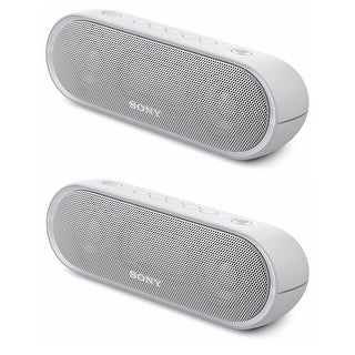 Sony SRSXB20 Bluetooth Speaker Bundle (White - 2 Pack)