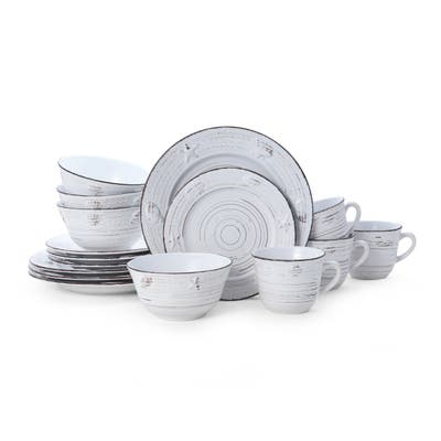 Pfaltzgraff Trellis White Coastal 16 picece Dinnerware Set (Service for 4)
