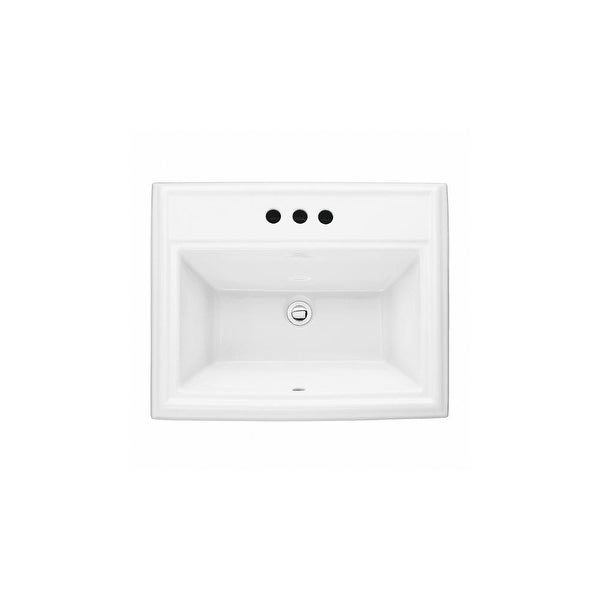 "American Standard 0700.004 Town Square 23-1/8"" Drop In Fireclay Bathroom Sink - White"