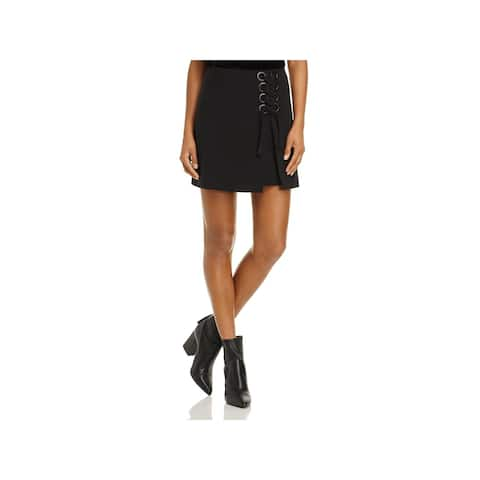 Finders Keepers Womens Mini Skirt Lace-up Eyelet - L