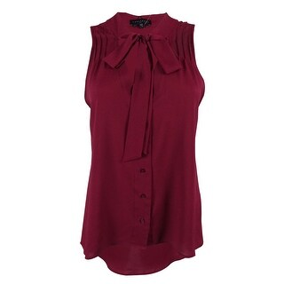 Sanctuary Women's Sleeveless Tie Neck Top - Mulberry (2 options available)