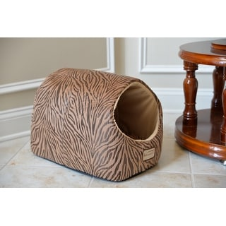 Link to Armarkat Zebra Pring Halo Cat Bed - Small Similar Items in Cat Beds & Blankets