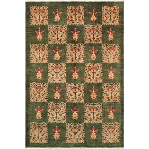 """Bohemien Ziegler Drake Hand Knotted Area Rug -8'1"""" x 9'10"""" - 8 ft. 1 in. X 9 ft. 10 in."""