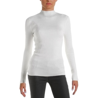 Hooked Up by IOT Womens Juniors Pullover Sweater Ribbed Knit Long Sleeves