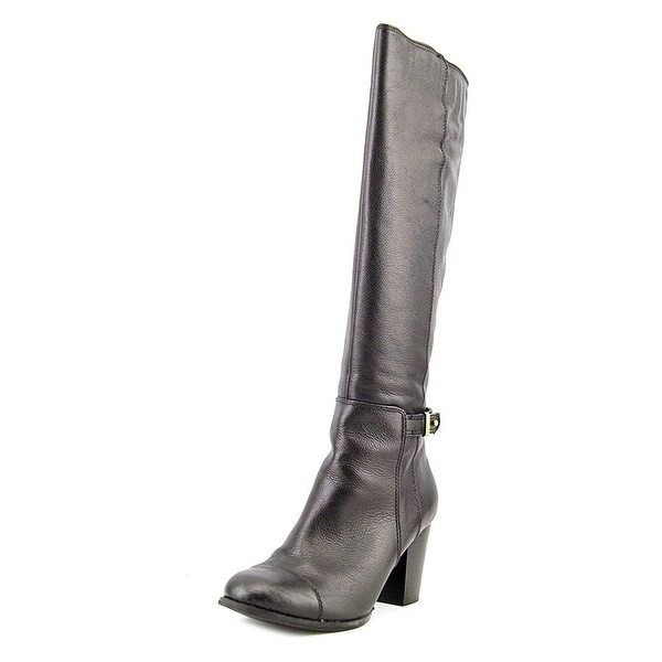 Giani Bernini Womens Ellee Leather Cap Toe Knee High Fashion Boots