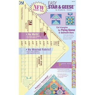Wrights 8823748 Easy Star and Geese Ruler-9-1-4 in. x 13 in.