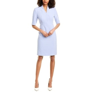 Anne Klein Zip-Front Sheath Dress