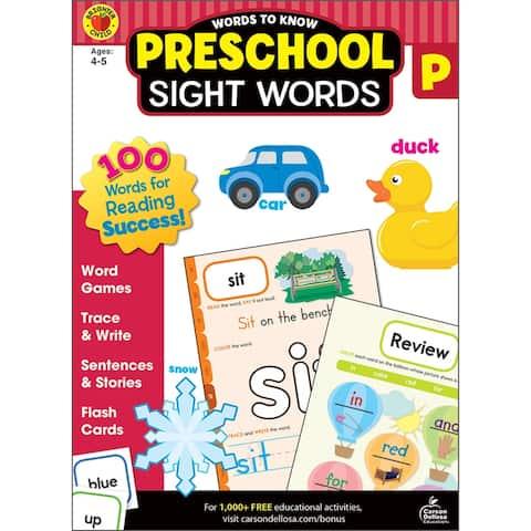 Brighter child words to know sight words gr prek 705233