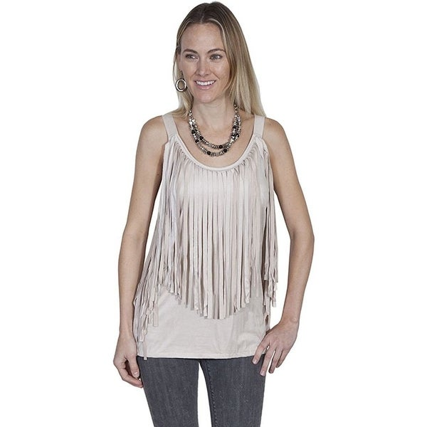 5b37e4cc Shop Scully Western Shirt Womens Sleeveless Fringe Tank Top HC260 - L -  Free Shipping Today - Overstock - 15382193