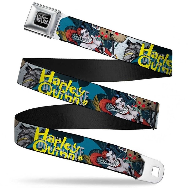 Dc Comics Forever Evil Full Color Black Gray Detective Comics Harley Quinn Seatbelt Belt