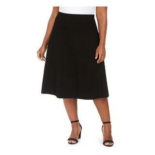 ANNE KLEIN Womens Black Midi A-Line Skirt  Size 0X