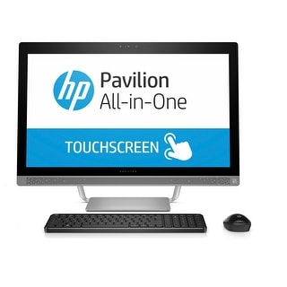 "HP Pavilion 27-a210 All-in-One, 27"" Full HD Touchscreen, Intel Core i7-7700T Refurbished - 1 tb/hard disk drive (hdd)"