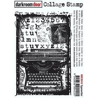 "Darkroom Door Cling Stamp 4.5""X3""-Typewriter"