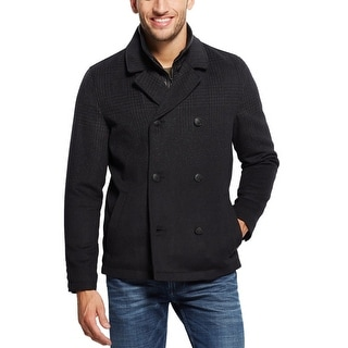 Guess Peacoat XX-Large Jet Black and Gray With Removable Faux Leather Bib