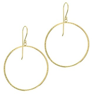 Buy Diamond Cut Gold Earrings Online At Overstock Com Our Best